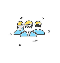 user group icon design vector image