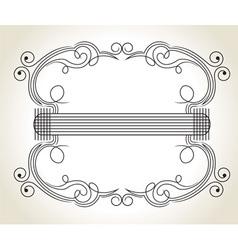 vintage decoration vector image