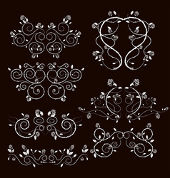Vintage frames and scroll elements1 vector