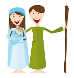 Virgin mary st joseph and bajesus isolated vector