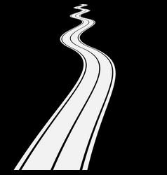 Winding asphalt road vector