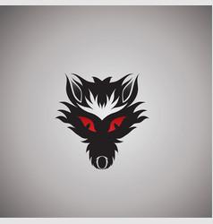 Wolf logo ideas design vector