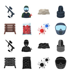 wooden barricade protective mask and other vector image