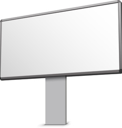 Clean billboard vector image vector image