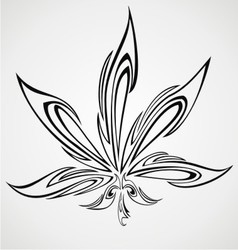 Marijuana Leaf Tattoo Design vector image vector image