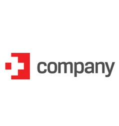 medicine red cross logo vector image vector image