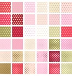 Seamless abstract retro pattern Set of 36 polka vector image vector image