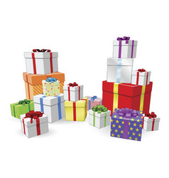 stacks of presents concept vector image