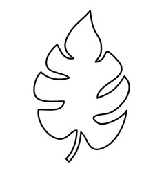 tropical leaf icon vector image vector image