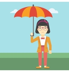 Business woman with umbrella vector image vector image
