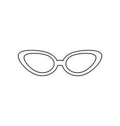 Cat eye sunglasses vector image vector image