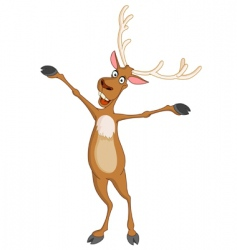 cheerful rudolph vector image vector image