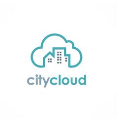 city cloud logo vector image