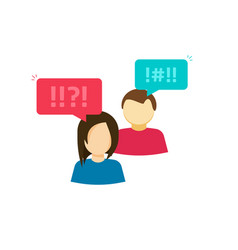 couple man and woman arguing people vector image