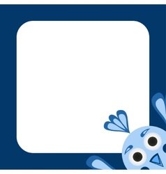 frame with a funny blue bird vector image