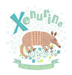 Letter X - Xenurine vector image vector image