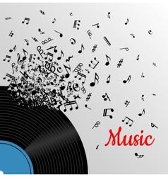 Retro music vintage poster vector image