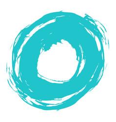brushstroke circle form vector image vector image