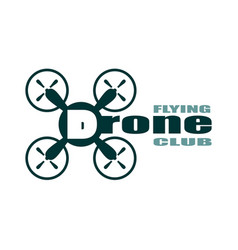 drone icon drone flying club text vector image