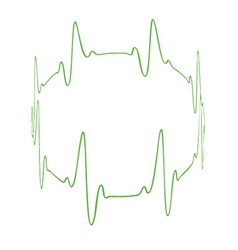 heartbeat circle vector image