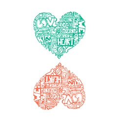 HeartWords4 vector image