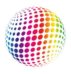 rainbow spectrum sphere abstract vector image