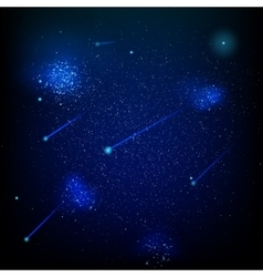 Space with stars nebula EPS 10 vector image