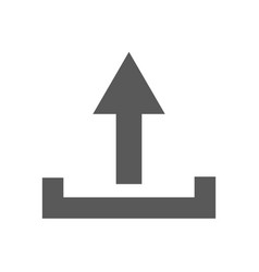 upload icon simple vector image