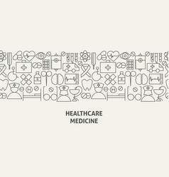 healthcare medicine banner concept vector image vector image