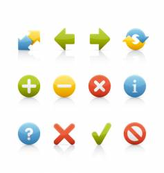 icon set navigation buttons vector image vector image