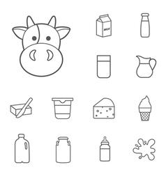 milk icon vector image vector image