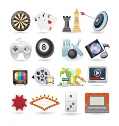 set of entertainment icons vector image vector image