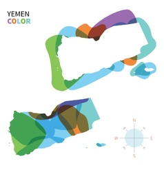 Abstract color map of Yemen vector image