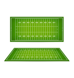 American football field with marking football vector