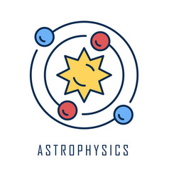 Astrophysics color icon astronomy branch study of vector
