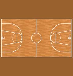 basketball wooden court background parquet field vector image