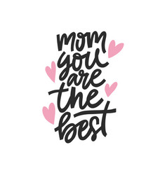 best mom lettering vector image