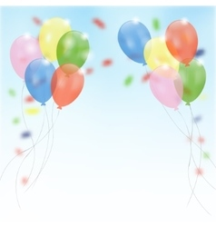 Birthday party background with flying balloons vector