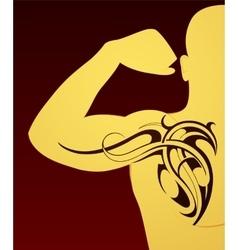 Body art tattoo vector image
