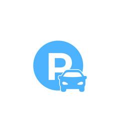 Car parking roadsign vector