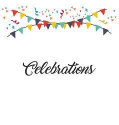 Celebrations template design vector