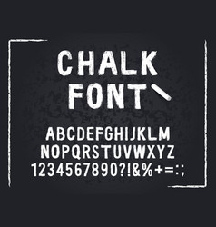 chalk font rough chalk hand drawn alphabet abc vector image