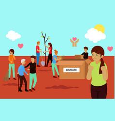 Charity volunteer donation concept vector