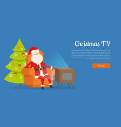 Christmas tv calm rest concept vector
