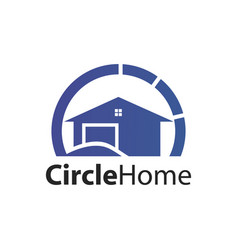 circle home logo concept design symbol graphic vector image