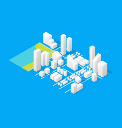 city maps concept 3d isometric view vector image