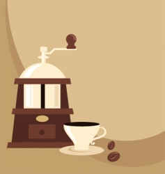 coffee mill background vector image