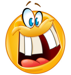 Crazy smile emoticon vector