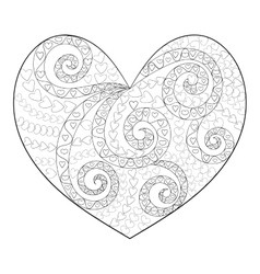 Cute heart with high details vector