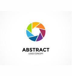Diaphragm logo template modern abstract vector
